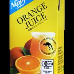 ストレート果汁100%のオーガニックオレンジジュース