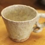試飲用のかわいいコーヒーカップ(成竹窯作)